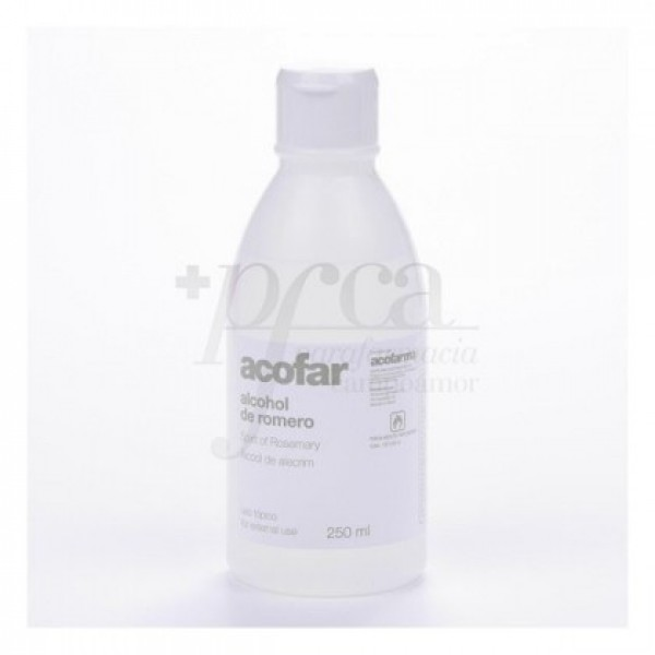 Alcohol de Romero ACOFAR 70º Fresco y Tonificante 250ml.