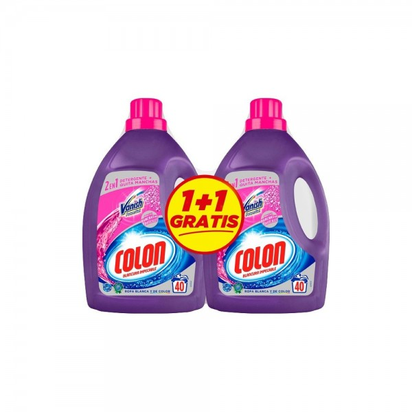 Colon gel detergentel vanish 40 lav.  2x1 gratis