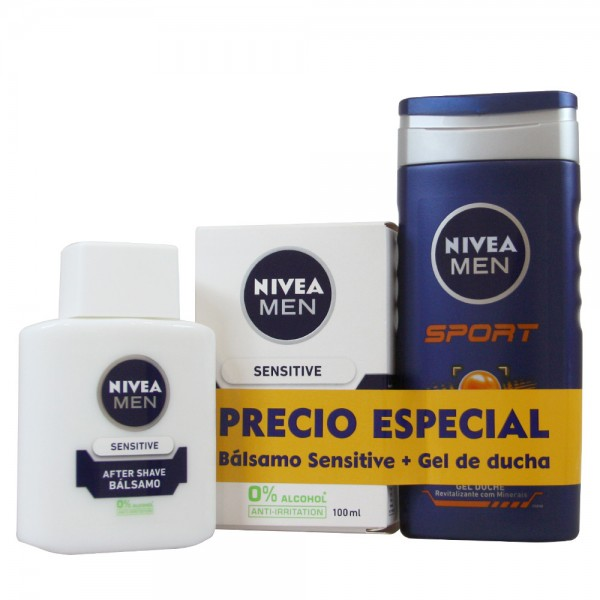 Nivea men sport gel de baño 250ml + after shave balsamo 100ml