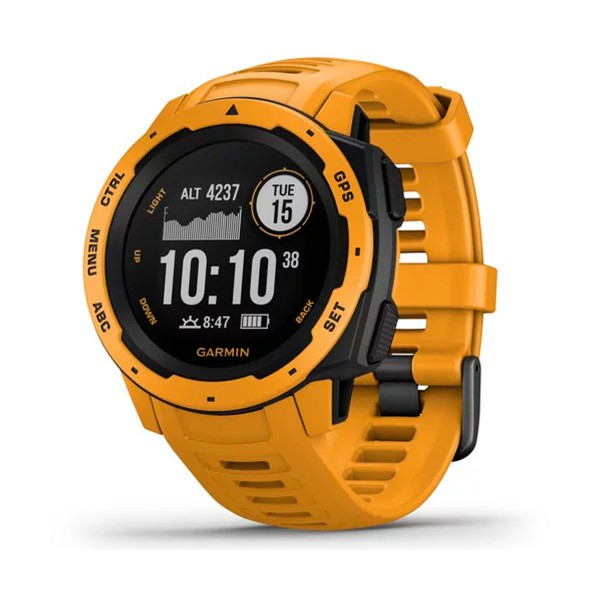 Garmin instinct sunburst 45mm smartwatch resistente gnss gps ant+ bluetooth