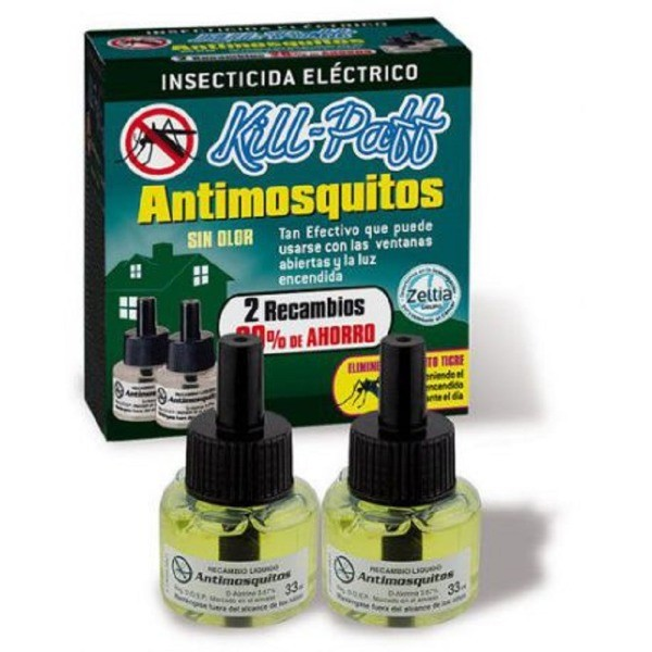 Kill-Paff  antimosquitos recambio 90 noches 33 ml 2 uds