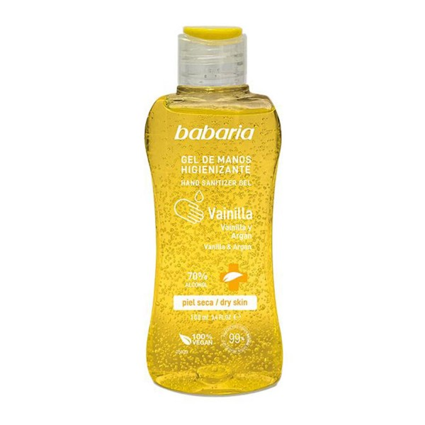 Babaria vainilla y argan gel de manos higienizante spray piel seca 70% alcohol 100ml