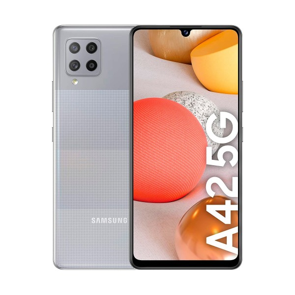 Samsung galaxy a42 gris móvil 5g dual sim 6.6'' hd+ octacore 128gb 4gb ram quadcam 48mp selfies 20mp