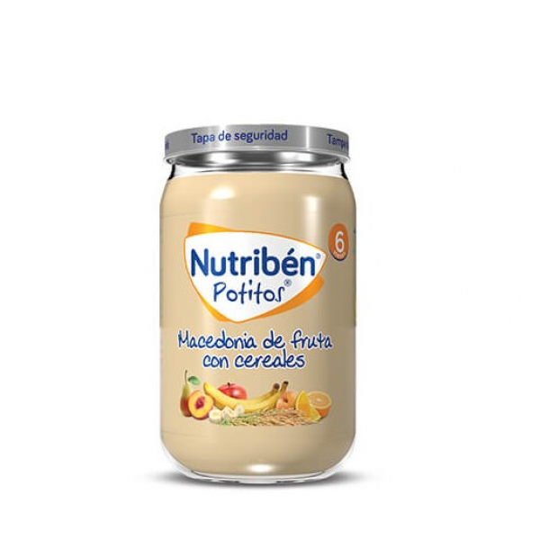 NUTRIBEN MACEDONIA FRUTA Y CEREALES 235 G